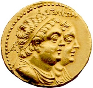 Ptolemy II and his sister-wife, Arsinoë II