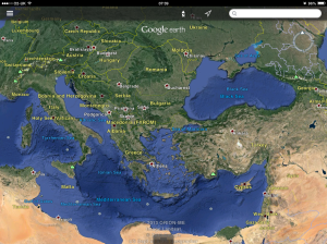 Troy is located just 'under' the Propontis (Sea of Marmara) on this map