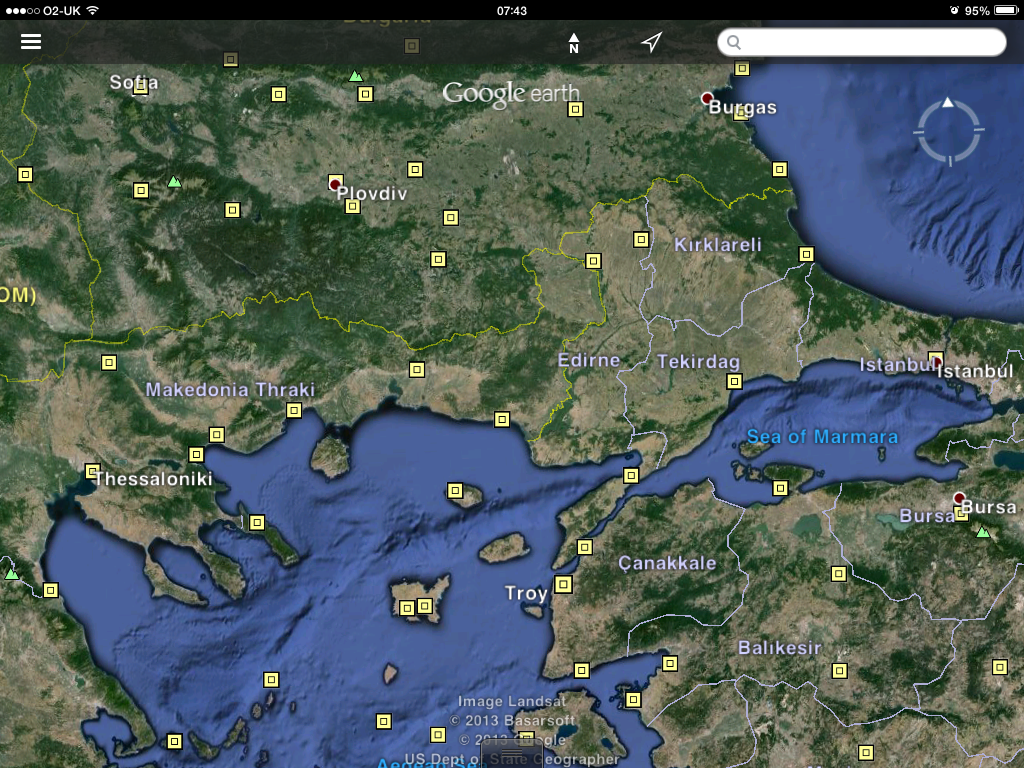 Google map the second achilles troy on the east coast of asia minor turkey gumiabroncs Images