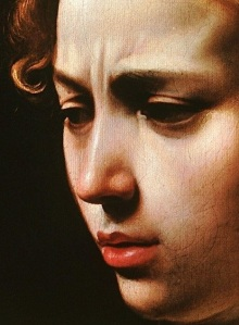 Judith Beheading Holofernes by Caravaggio: a detail