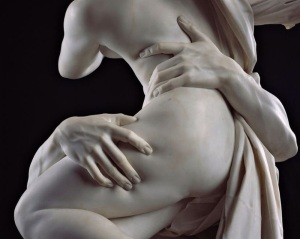 The Rape of Proserpina by Bernini (1621-2). Detail.