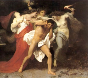 Orestes doesn't pay for his round, the Erinyes get annoyed